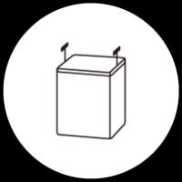 組み合わせキッチンボード