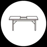 エクステテンションテーブル・伸長式テーブル